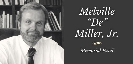 Melville De Miller Memorial Fund